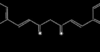 מבנה מולקולרי של כורכומין